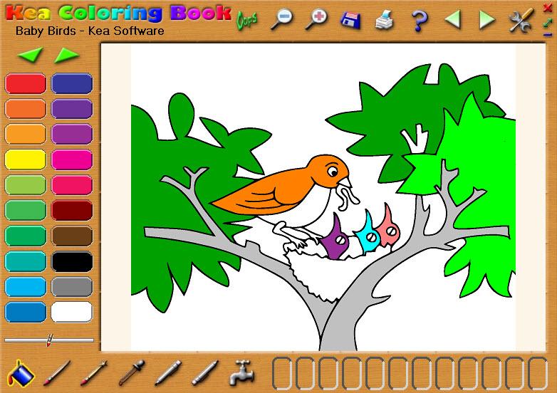 Kea Coloring Book Images and Screenshots
