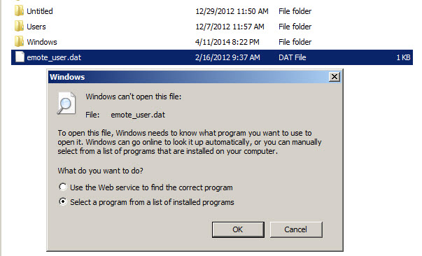 how to open an file
