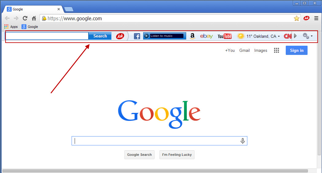 Chrome for ebay toolbar